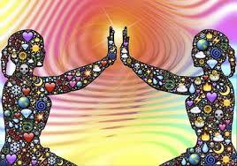 Interpretación cuántica del doble Oración Meditación Como Contacto