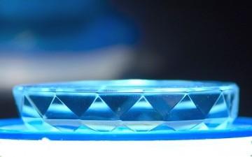 Cristales en el agua potable