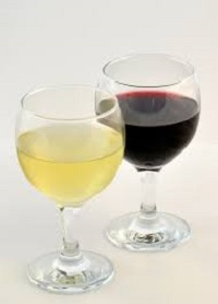 La buena copa de vino: Vino blanco y tinto