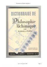 Diccionario de Filosofia Alquímica de Kamala-Jnana Libro Para Bajar