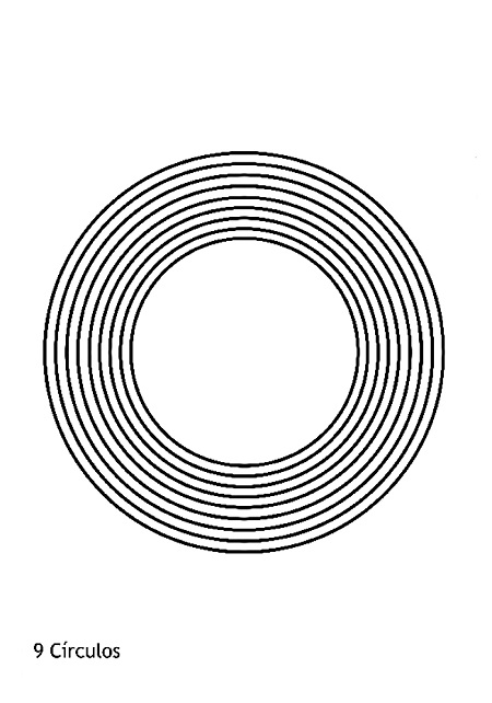 Radiaciones electromagnéticas: 9 círculos.